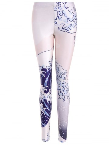 Unique Spindrift Printed Bodycon Leggings