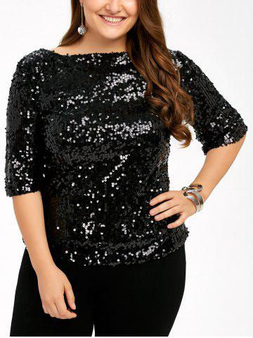 Best Plus Size Short Sleeve Sequined T-Shirt