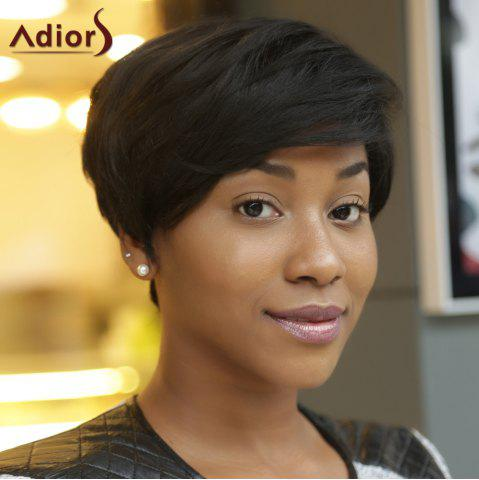 Unique Adiors Short Fluffy Side Bang Straight Synthetic Wig