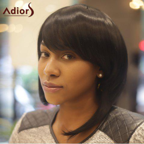 Store Adiors Inclined Bang Straight Medium Synthetic Wig - BLACK  Mobile