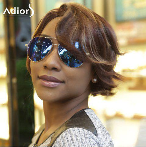 Store Adiors Fluffy Side Parting Natural Wave Short Colormixed Synthetic Wig
