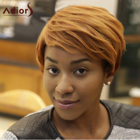 Shop Adiors Short Fluffy Mixed Color Side Bang Synthetic Wig