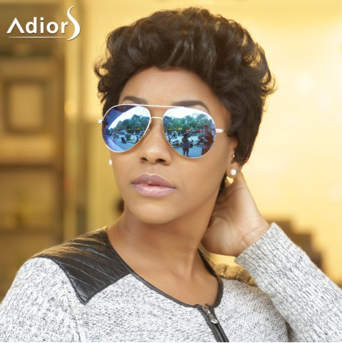 Store Adiors Short Fluffy Curly Synthetic Wig BLACK