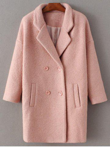 Outfits Lapel Wool Double Breasted Coat