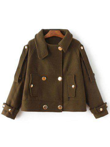 Store Button Wool Short Peacoat