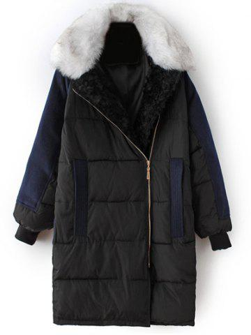 Best Take Off Faux Fur Collar Quilted Coat