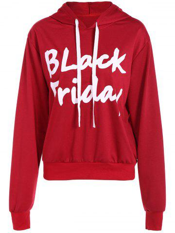 Outfit Drawstring Black Friday Print Hoodie