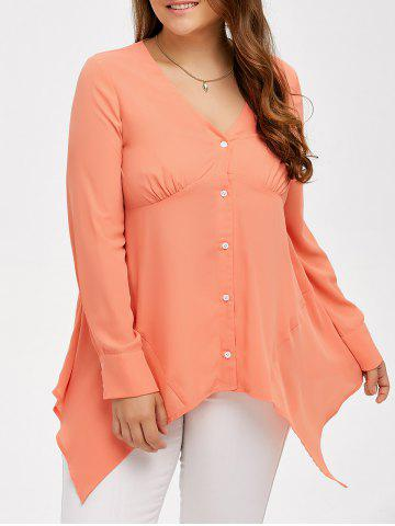 Outfits Plus Size Asymmetrical Empire Waist Blouse