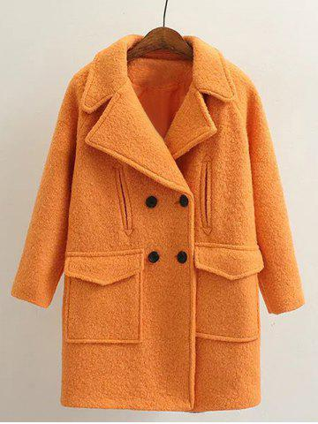 Long Double Breasted Wool Coat