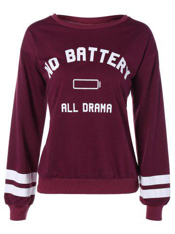 Outfit No Battery All Drama Print Sweatshirt