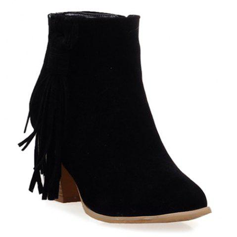 Fashion Tassels Suede Ankle Boots