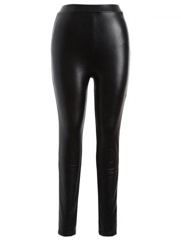 Shops Plus Size Faux Leather Skinny Bodycon Pants