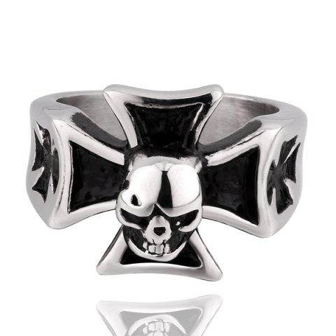Discount Vintage Skull Crucifix Ring
