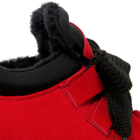 Outfit High Top Hidden Wedge Suede Sneakers - 37 RED Mobile