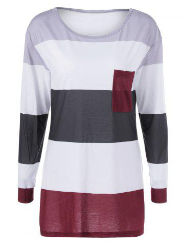Cheap Striped Single Pocket Tee STRIPE M