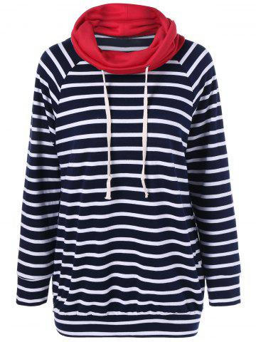New Elbow Patch Striped Sweatshirt STRIPE XL