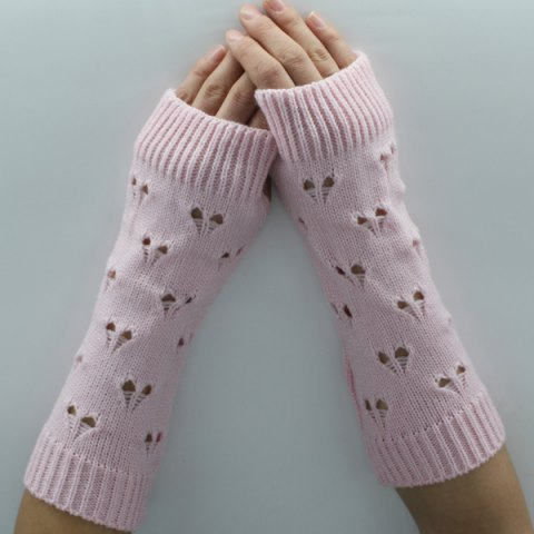 Best Hollow Out Heart Knitted Arm Warmers
