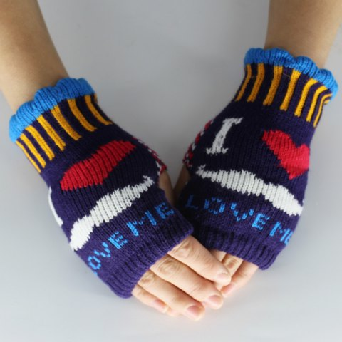 Shop Beard Love Knitted Fingerless Gloves CONCORD