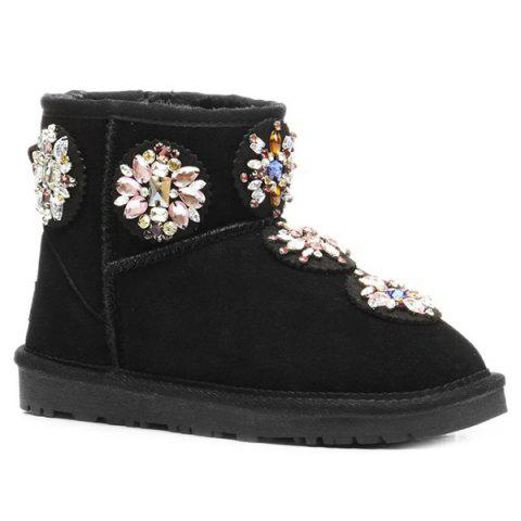 Best Colored Rhinestone Suede Snow Boots