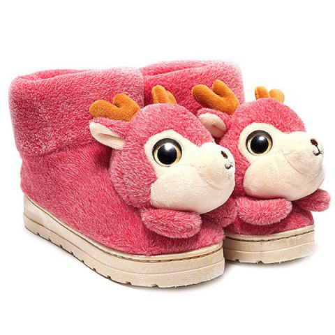 Fashion Fuzzy Cartoon Deer House Novelty Slippers