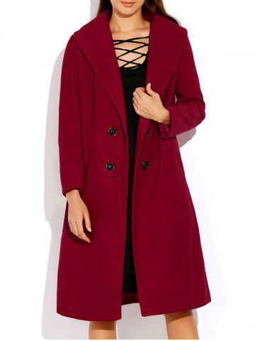 Online Double Breasted Coat with Shawl Collar