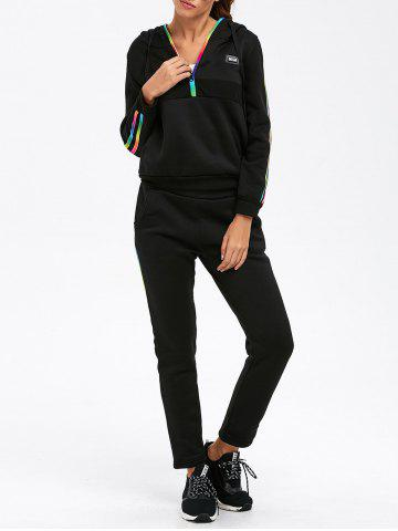 Shop Half Zip Striped Hoodie with Pants Suit