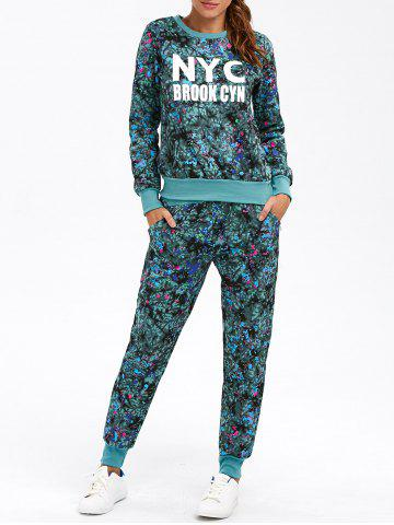 Buy Floral Print Graphic Sweatshirt with Jogger Pants