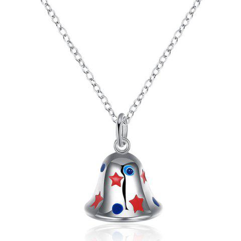 Hot Enamel Christmas Bell Jewelry Set - SILVER  Mobile