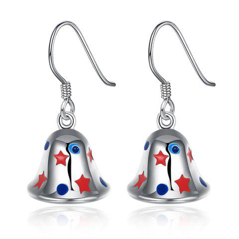 Sale Enamel Christmas Bell Jewelry Set - SILVER  Mobile