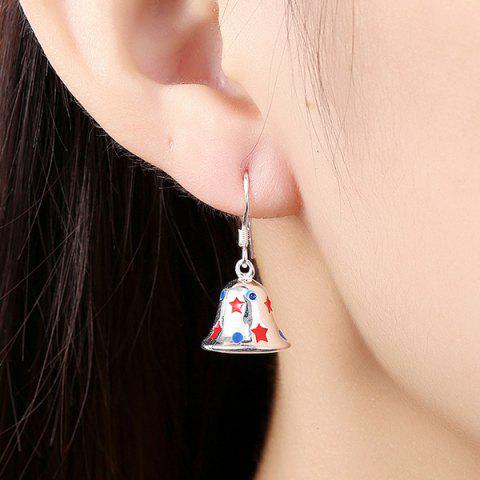 Buy Enamel Christmas Bell Jewelry Set - SILVER  Mobile