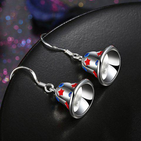 Trendy Enamel Christmas Bell Jewelry Set - SILVER  Mobile