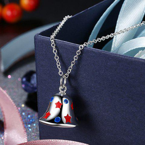 Shops Enamel Christmas Bell Jewelry Set - SILVER  Mobile
