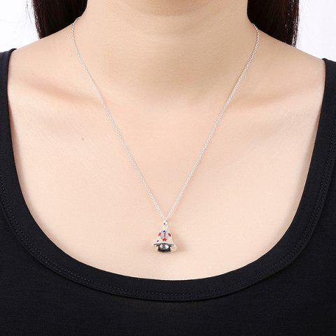 Discount Enamel Christmas Bell Jewelry Set - SILVER  Mobile