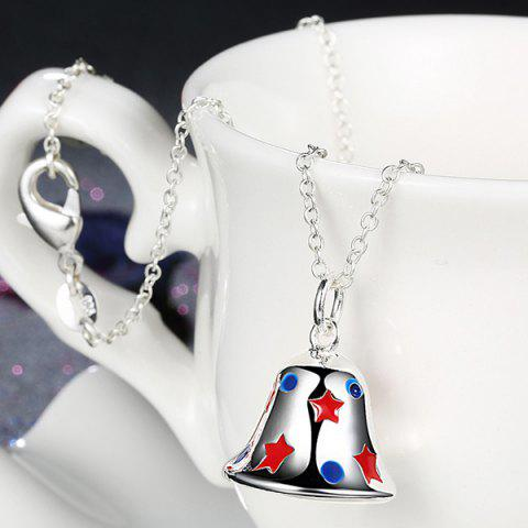 Fashion Enamel Christmas Bell Jewelry Set - SILVER  Mobile