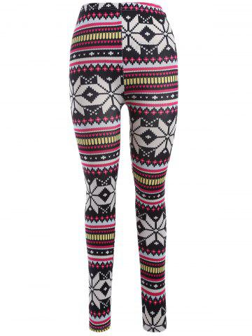 Hot Skinny Snowflake Leggings COLORMIX ONE SIZE