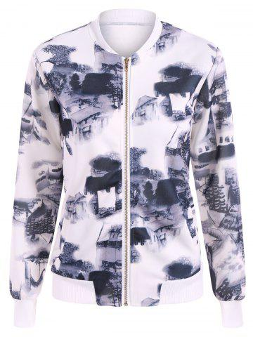 New Chinese Painting Zip Up Jacket