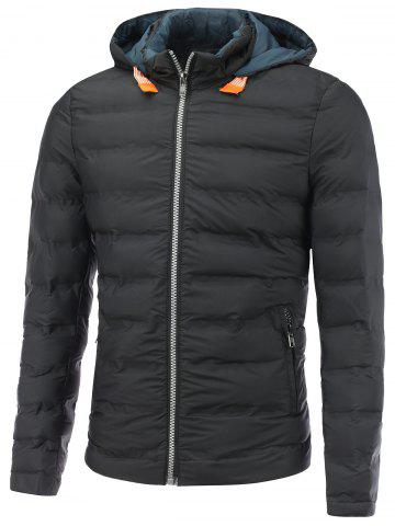 Latest Hooded Zip Pocket Padded Jacket