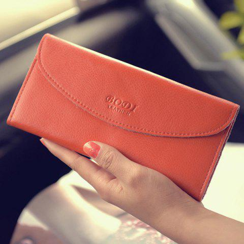 Outfit Letter Embossed Wallet - JACINTH  Mobile