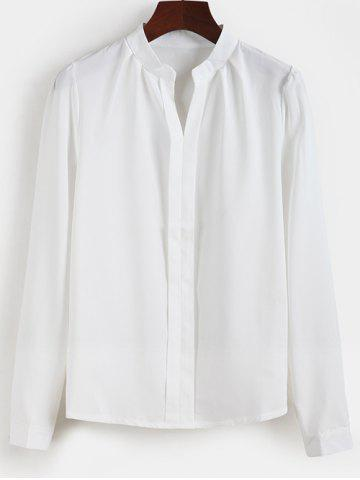 Affordable Fitted Pullover Shirt OFF WHITE 2XL