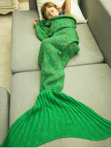 Fancy Polka Dot Design Bed Sleeping Bag Knitted Mermaid Blanket