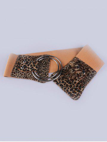 Affordable Faux Leather Stretch Belt with Metal Rings - LEOPARD  Mobile