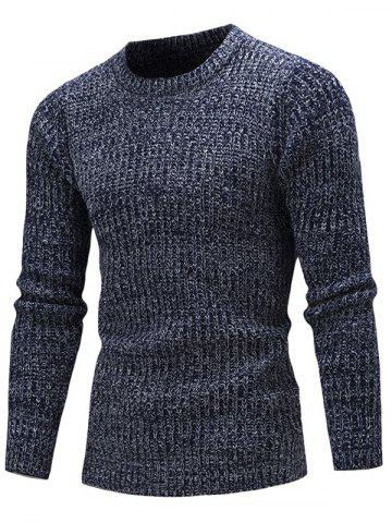 Fashion Slim Fit Crew Neck Ribbed Knitted Sweater - 2XL CADETBLUE Mobile