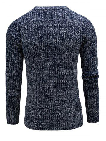 Shops Slim Fit Crew Neck Ribbed Knitted Sweater - 2XL CADETBLUE Mobile