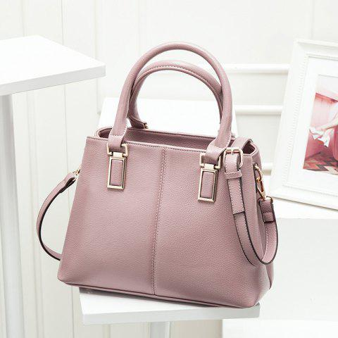 Fancy PU Leather Metal Embellished Tote