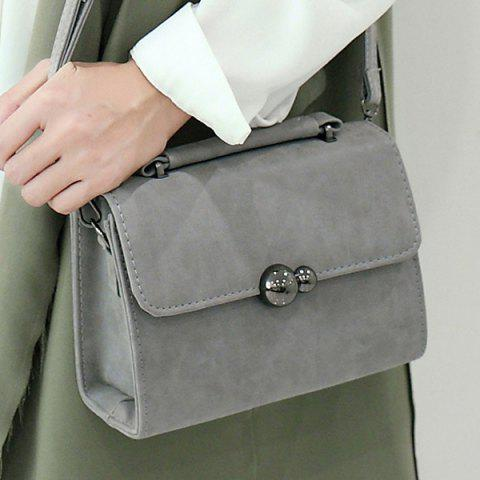 Unique PU Leather Stitching Cross Body Bag GRAY