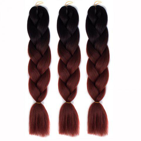 Fashion 1 Pcs Multicolor Braided High Temperature Fiber Hair Extensions