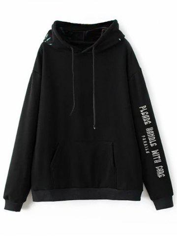 Fancy Floral Embroidered Letter Hoodie