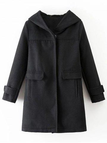 Shops Hooded Woolen Blend Coat