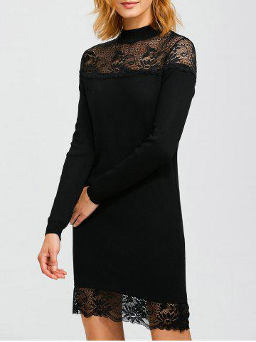 Fancy Lacework Hollow Out Slimming Knitted Dress