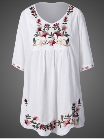 Shops Floral Embroidered Relaxed Dress